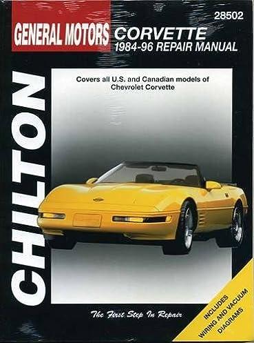 general motors corvette 1984 96 repair manual 28502 covers all rh amazon com 1996 corvette owners manual online 1996 chevrolet corvette service manual