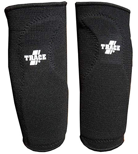 Adams Trace Elastic Compression Sliding Knee Support Sleeves with Pad, Black, 2 Guard Bundle