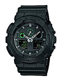 Casio G Shock GA-100MB-1AER Mission Black G-Shock Uhr Watch Montre Orologio