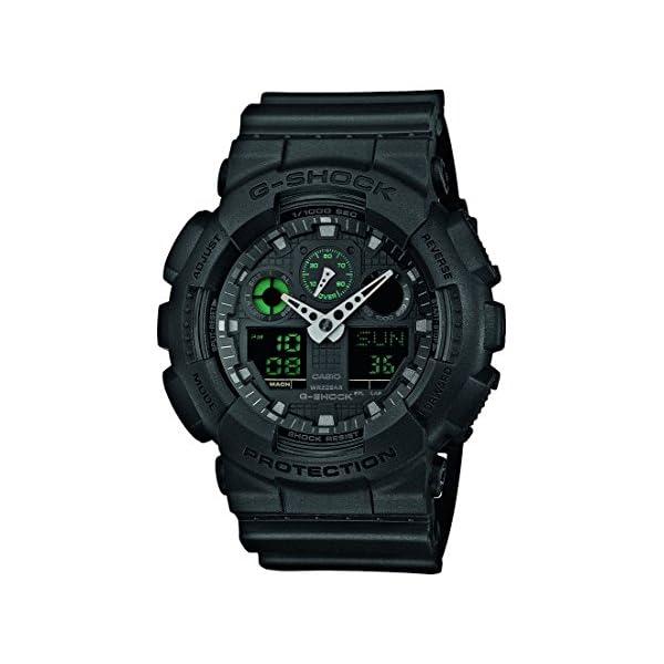 Casio Reloj Analogico-Digital para Hombre de Cuarzo con Correa en Resina GA-100MB-1AER 2