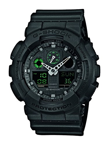 - Casio G Shock GA-100MB-1AER Mission Black G-Shock Uhr Watch Montre Orologio