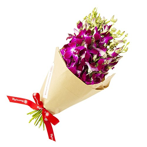 Purple Dendrobium Orchid Bouquet (10 Stems) - No Vase by BloomsyBox