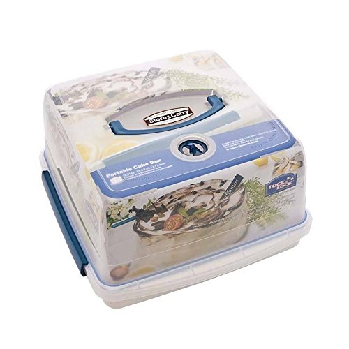 Lock & Lock Air Tight Portable Plastic Cake Box 12.6L - Pack of 4