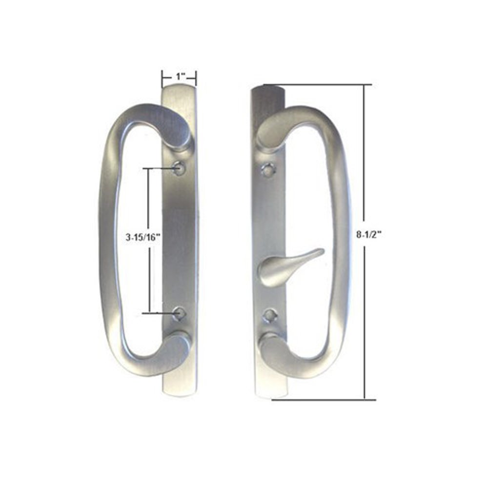 Stb Sliding Glass Patio Door Handle Set Mortise Type Brushed Chrome 3 15 16 Holes Com