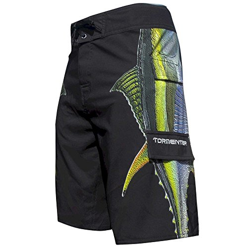 ( Tormenter Men's Side to Fishing Stretch Boardshorts, Tuna, 40 )