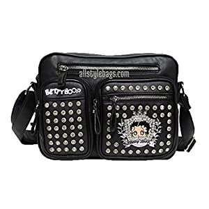 Betty Boop crown rhinestone Pocket shoulder cross-body bag set handbag messenger