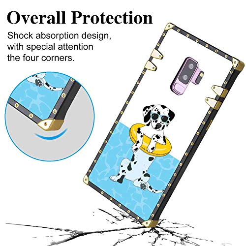 Square Corner Case Fits for Samsung Galaxy S9 Plus (2018) [6.2 Version] Cool Dalmatians