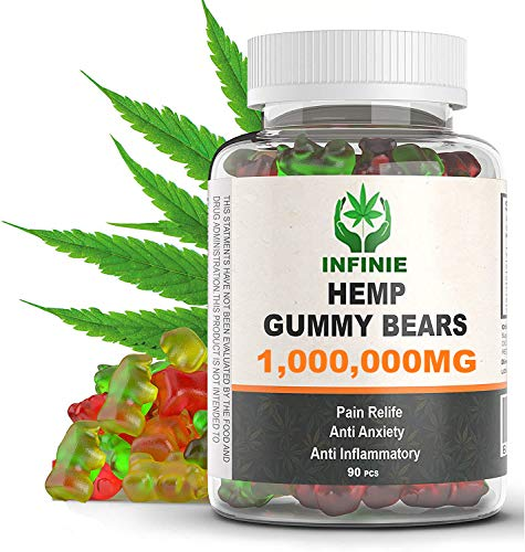 Premium-Hemp-Gummies–1000000-MG–1111-MG-Hmp-in-Each-Gummy–All-Natural-Ingredients-Relief-for-Stress-Inflammation-Sleep-Anxiety-Depression–Vitamins-Omega-369