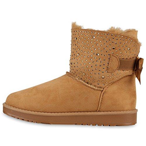 b948f605bc62ce Stiefelparadies Damen Schlupfstiefel Winter Schuhe Kunstfell Warm  Gefütterte Stiefel Glitzer Boots Animal Print Profilsohle Stiefeletten  Flandell ...