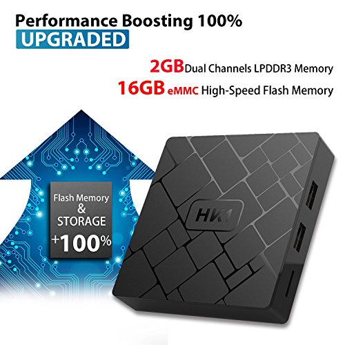 Android 7.1 TV Box - LIVEBOX HK1 2018 Version Android TV Box with 2GB RAM 16GB ROM Amlogic S905W Quad Core A53 64 Bits,Supporting 4K (60Hz) Full HD/3D/H.265/WiFi 2.4GHz