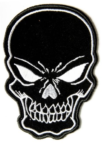 Black Skull Patch Small - By Ivamis Trading - 3x4.25 inch