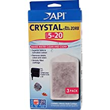 API 3-Pack Crystal Bio-Chem Zorb Filter Cartridge for Aquarium, Size-5 to 20