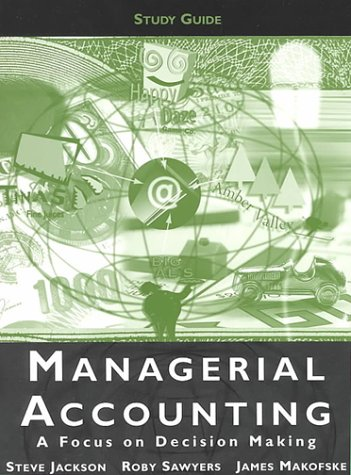 Managerial Accounting Study Guide