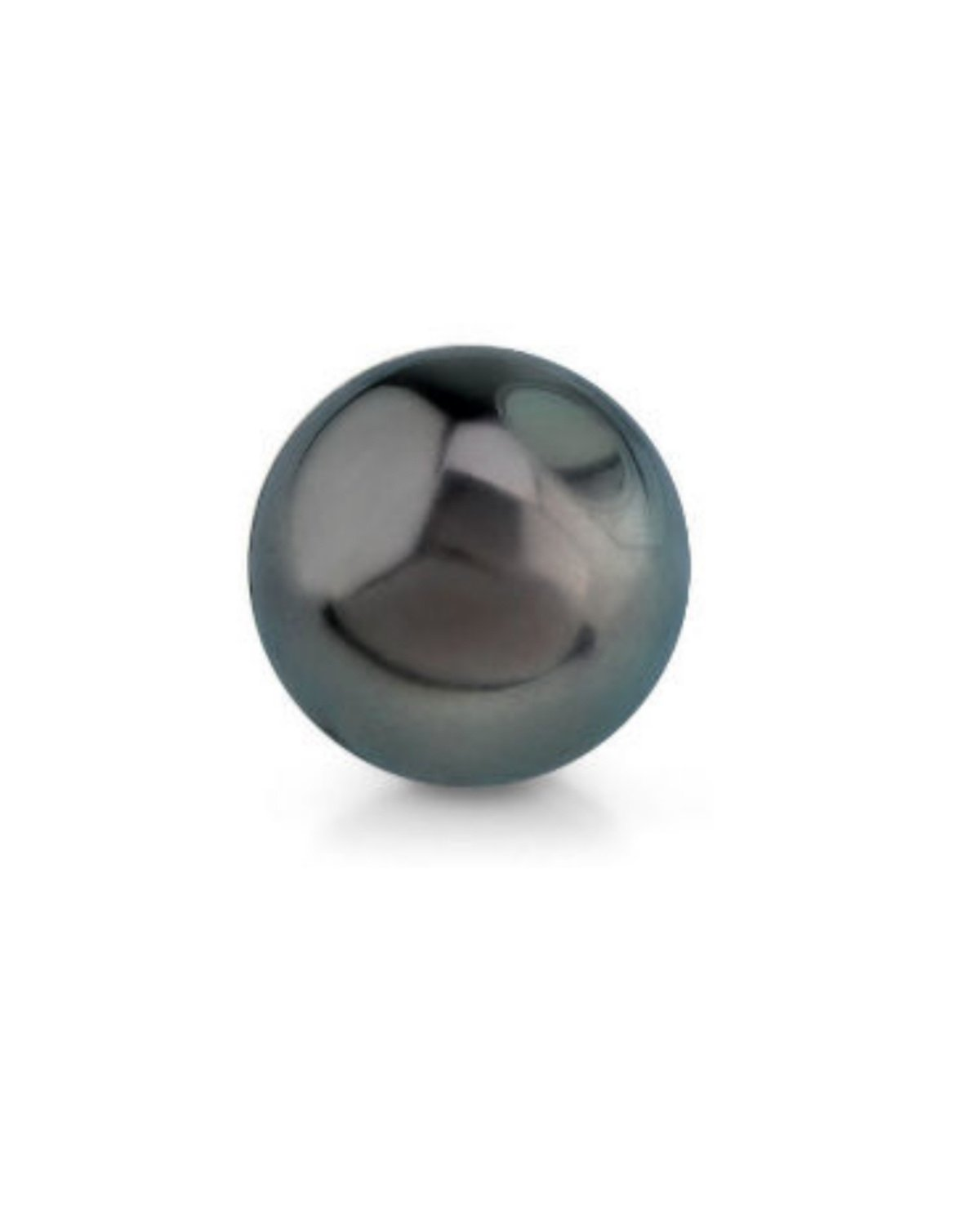 Genuine Single Black Tahitian South Sea Undrilled Round Loose Cultured Pearl - AAA Quality by The Pearl Source