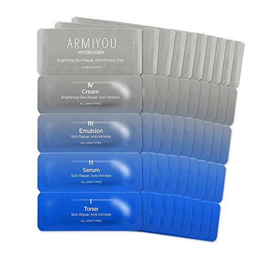 ANTI AGING 10 DAY MIRACLE KIT [ARMIYOU] Ultra Moisturizing Hydrogen Face Moisturizer Toner Lotion Serum Cream for Anti-Wrinkle Women Men Skin Repair Rejuvenation Dry Sensitive Eczema Acne (10-Day-Kit)