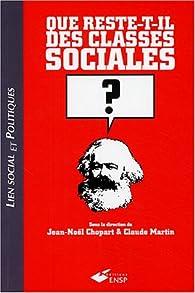 Que reste-t-il des classes sociales ? par Jean-Noël Chopart