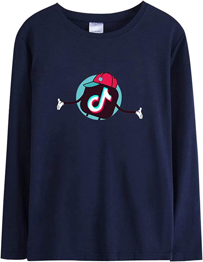 TIK TOK T-Shirt Camiseta de Manga Larga Casual Suelto Blusa Tops Jersey Sueter Camisetas Tops Calle Deportivos Blusa Outwear: Amazon.es: Ropa y accesorios