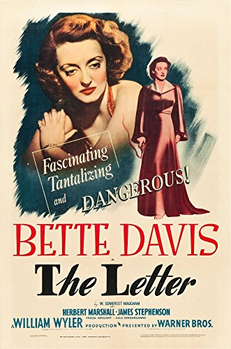 Posterazzi The Letter Bette Davis On Midget Window Card (Artwork Also Used On 1-Sheet 1940 Movie Masterprint Poster Print (11 x 17)