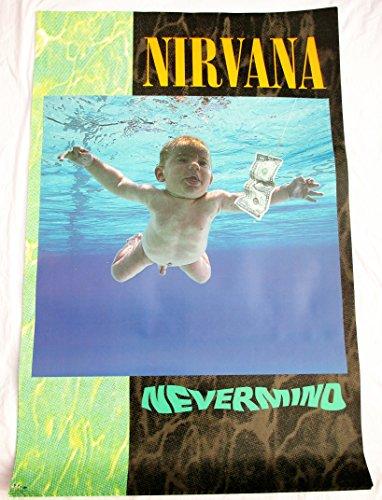(1991 Nirvana Nevermind Album Promo Poster Kurt Cobain Sub Pop Geffen Records)