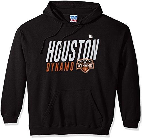 Junk Food MLS Houston Dynamo Men's Long Sleeve Pullover Hoodie, Black, Large