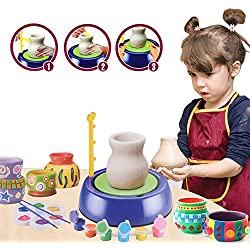 BTToyy Pottery Wheel, Pottery Studio Kit, Educational Toy, DIY Toy With Clay For Kids Children Beginners For Fun