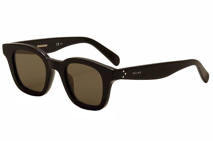 bc2dd6a1eb16 Image Unavailable. Image not available for. Colour  Celine 41376S 807 Black  41376S Wayfarer Sunglasses ...