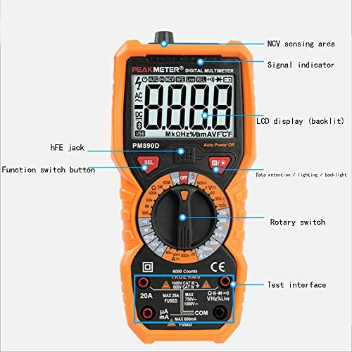 CHUNSHENN Digital Multimeter, Digital Multimeter High Precision Anti-Burning Voltage And Current Universal Meter