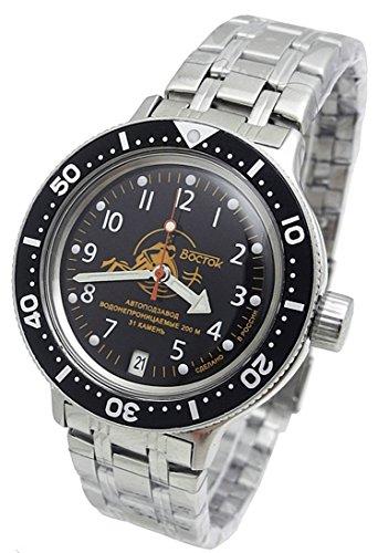 - Amphibia 200m VOSTOK Automatic Mechanical Watch with Custom Bezel! New! 2416/420380