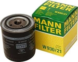 Mann-Filter W 930/21 Filtro de Aceite