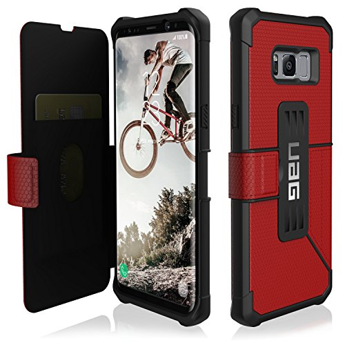 UAG Samsung Galaxy S8+ [6.2-inch screen] Metropolis Feather-Light Rugged [MAGMA] Military Drop Tested Phone Case