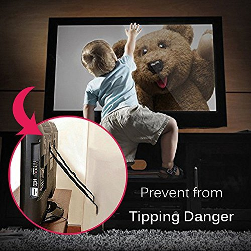 Anti-Tip TV & Furniture Strap, Cunina Baby Safety Anchor Strap for Baby Proofing & Flat Screens, Pack of 2(with 4 Corner Guards and 4 Outlet Plugs) by Cunina (Image #2)
