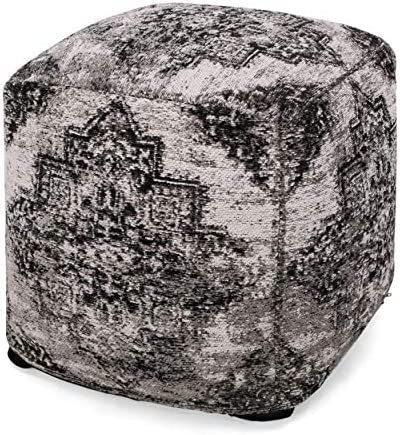 Christopher Knight Home Lily Hand-Loomed Boho Fabric Cube Pouf