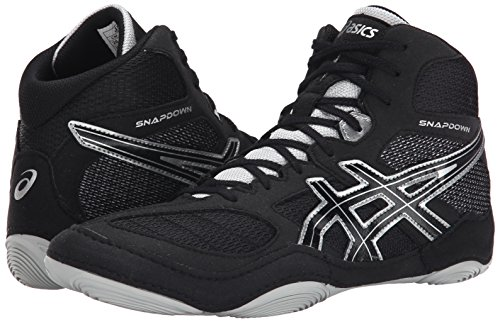 Image of the ASICS Men's Snapdown, Black/Silver, 12 M US