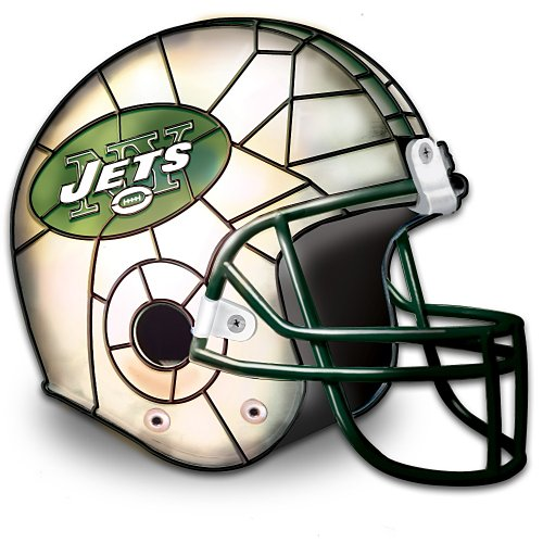 The New York Jets Louis Comfort Tiffany-Style Accent Lamp by The Bradford Exchange