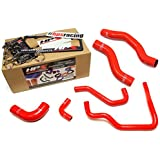89-95 Toyota Pickup 22RE Non Turbo HPS Red Silicone Radiator + Heater Hose Kit Coolant EFI LHD