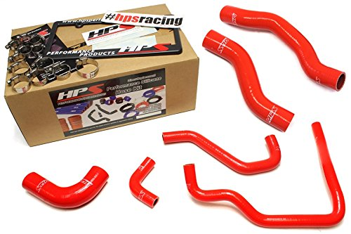 89-95 Toyota Pickup 22RE Non Turbo HPS Red Silicone Radiator + Heater Hose Kit Coolant EFI LHD (Toyota Pickup Turbo compare prices)