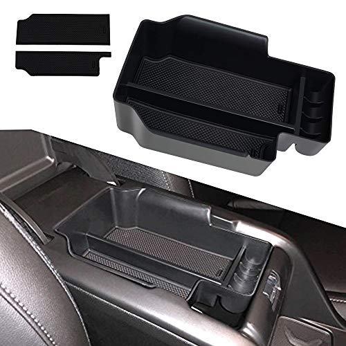 (Center Console Armrest Insert Organizer ABS Black Tray Pallet Secondary Storage Box Container for 2015-2019 Chevy Colorado and GMC Canyon)