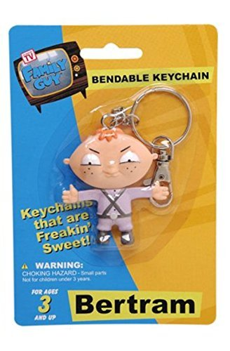 Family Guy BERTRAM KEYCHAIN Bendable Toy Figure ()