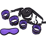 Bundle Binding Bed Handcuffs Couple Flirting Body Harness Tool Roleplay Eye Mask (Purple)