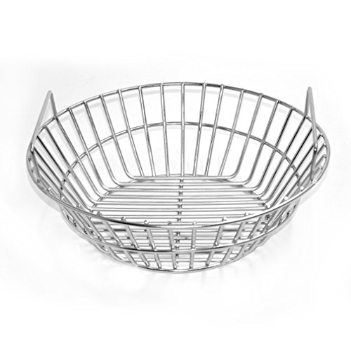 onlyfire Stainless Steel Charcoal Ash Basket Fits for Large Big Green Egg Grill, Kamado Joe Classic, Pit Boss, Louisiana Grills,Primo Kamado Grill and Large Grill Dome (Dome Boss)