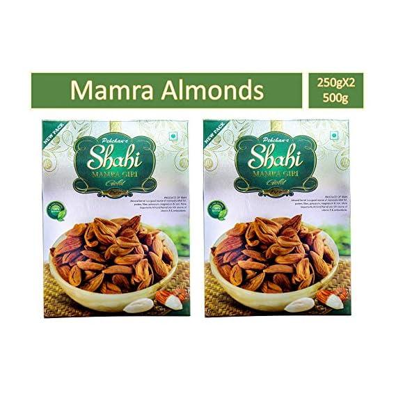 Pehchan E Shahi Fresh & Natural Mamra Almonds- Pack of 2, 500 Gram