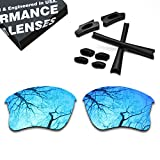 #2: Polarized Lens Replacement & Black Rubber Kits for Oakley Flak Jacket XLJ