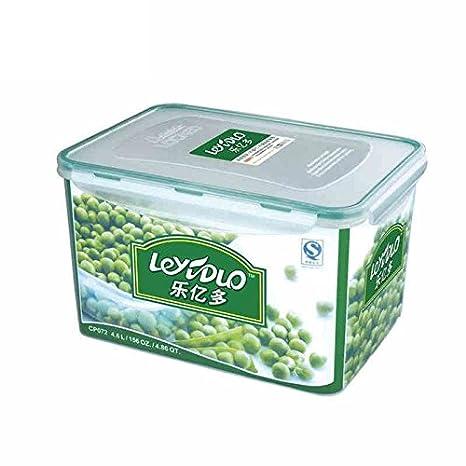 YQQ 4.6L Caja De Plástico Caja De Almacenamiento De Alimentos Fiambrera Caja De Fruta: Amazon.es: Hogar