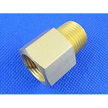 """MISOL 1 pcs of Adaptor fitting 1/2"""" BSP (DN15) male to 1/2"""" NPT female, Brass"""