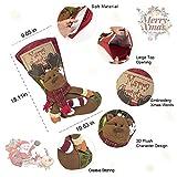 3 PCS Set Christmas Stockings, 18 Xmas Stockings Hanging, 3D Santa Claus/Snowman/Reindeer Character Santa Gifts Socks Party Favors Decorative Hanging Ornaments