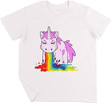 Unicornio Yo Vómito Los Arco Iris! Niños Chicos Chicas Unisexo Camiseta Blanco: Amazon.es: Ropa y accesorios