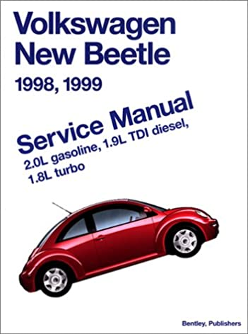 volkswagen new beetle 1998 1999 service manual 2 0l gasoline rh amazon com 2005 Volkswagen Beetle Convertible 2010 Volkswagen Beetle