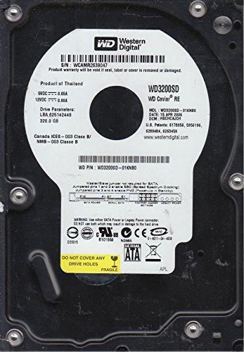 WD3200SD-01KNB0, DCM DSCHCAJCH, Western Digital 320GB SATA 3.5 Hard (Western Digital Stock)