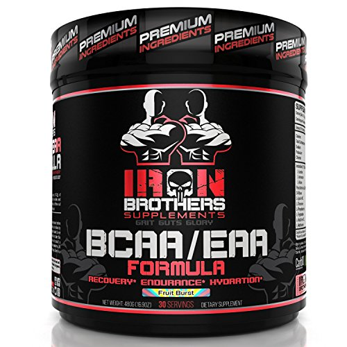 (BCAA/EAA Powder Supplement - Best Intra Workout Formula - Essential Amino Acids for Hydration - Vegan Instaminos - All Natural Fermented - Carb 10 - Non-GMO - Gluten-Free - Ideal 2:1:1 Ratio)