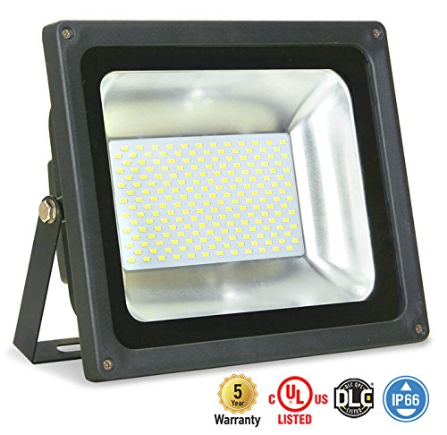 ASD LED Floodlight 100W SMD Outdoor Landscape Security Waterproof UL Listed DLC Certified 4000K Bright White